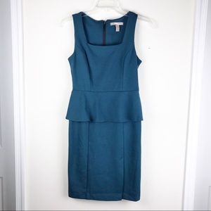 Forever21 Turquoise green peplum dress